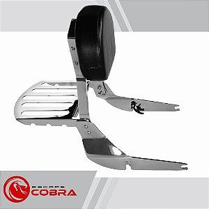 Sissy bar custom shadow 750 de 2011 até 2014 cromado cobra