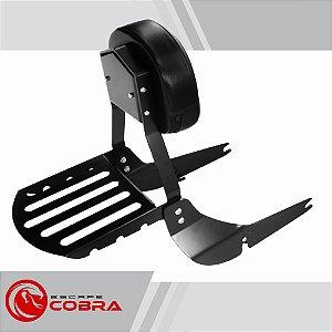 Sissy bar custom shadow 750 de 2011 até 2014 preto cobra