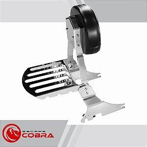 Sissy bar sportster 1200 CB de 2006 até 2020 cromado cobra
