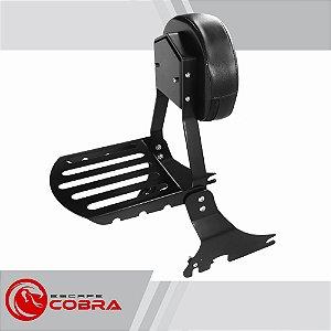 Sissy bar sportster 1200 CB de 2006 até 2020 preto cobra