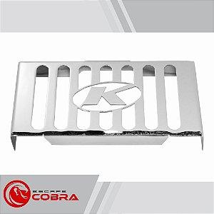 Protetor de radiador mirage 250 2009 até 2013 cromado cobra