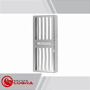 Protetor de radiador honda shadow 600 cromado escape cobra