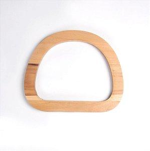 Alça em Madeira Oval com base reta