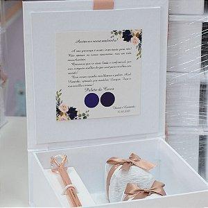 Convite para padrinhos de casamento - 10 caixas