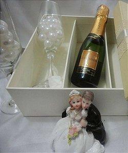 Caixa de casamento para padrinhos