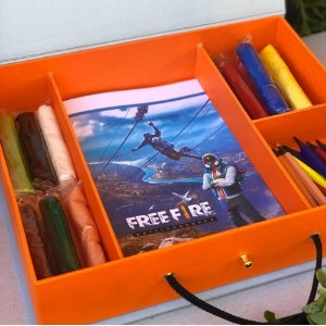 Maleta Free Fire p/ festa infantil