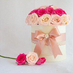 Caixa com flores - Redonda M