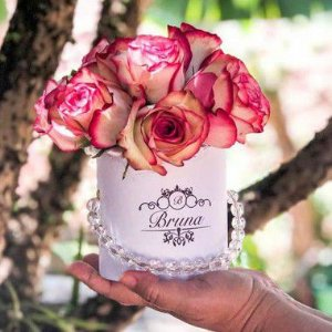 Caixa com flores - Redonda P