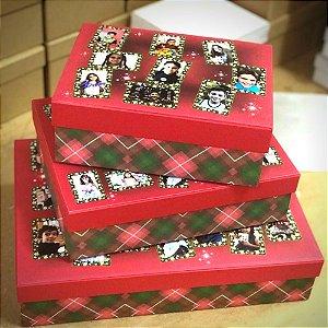 Caixas personalizadas de natal