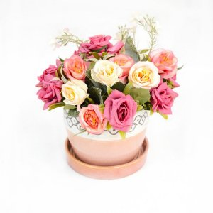 Arranjo floral perfumado - Acompanha home spray