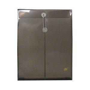Envelope Vertical com Fecho Cordão - Ofício Transparente Fume EN01A