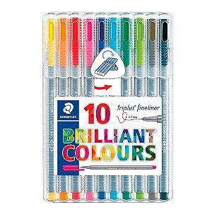 Canetas Staedtler Triplus Fineliner 10und Brilliant Colours