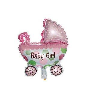 BALAO METALIZADO CARRINHO BABY GIRL