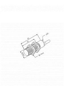 Sensor Indutivo IN-8M-18CA-WA/JL