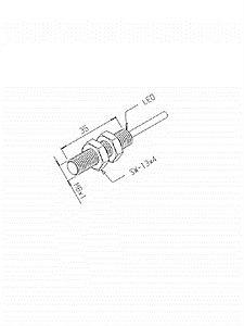 Sensor Indutivo I1N-2,2M-8EA-PA/XL