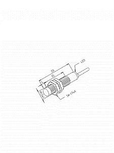 Sensor Indutivo IN-4M-12SA-WA/JL