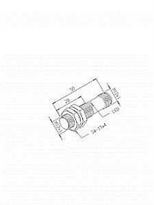 Sensor Indutivo IGQ-4M-12EM-PF/PDL