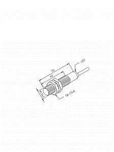 Sensor Indutivo IGQ-4M-12EA-PF/PDL