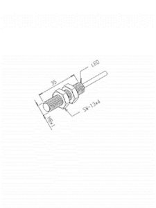 Sensor Indutivo IN-2,2M-8EA-NA/XL