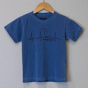 """Camiseta Infantil Azul - """"Paixão pela Mata Atlântica"""""""