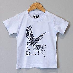 """Camiseta Infantil Branca - """"Estamos Conectados"""""""