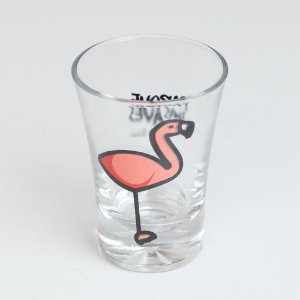"Copinho shot liso - ""Flamingo"""
