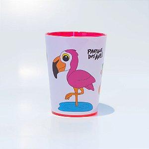 Copo rosa plástico - flamingo