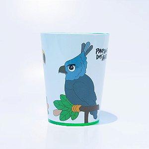 Copo verde plástico - harpia