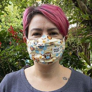 Máscara creme - coruja