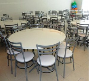 Conjunto com 1 Mesa e 8 Cadeiras - Mesas e Cadeiras para Restaurante REF 8050