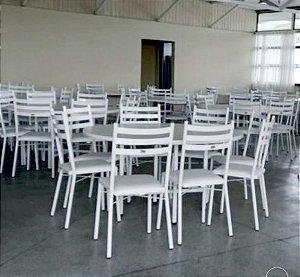 Conjunto com 1 Mesa e 8 Cadeiras - Mesas e Cadeiras para Restaurante REF 8000