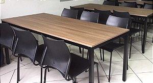 Conjunto com 1 Mesa e 6 Cadeiras - Mesas e Cadeiras para Restaurante REF 8090