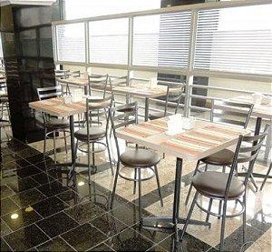Conjunto com 1 Mesa e 2 Cadeiras - Mesas e Cadeiras para Restaurante REF 7050
