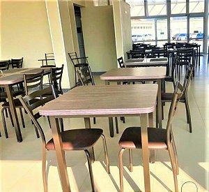 Conjunto com 1 Mesa e 2 Cadeiras - Mesas e Cadeiras para Restaurante REF 7110