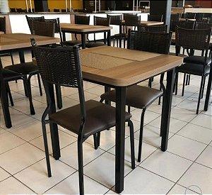 Conjunto com 1 Mesa e 2 Cadeiras - Mesas e Cadeiras para Restaurante REF 7070