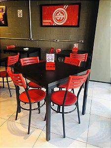 Conjunto com 1 Mesa e 4 Cadeiras - Mesas e Cadeiras para Restaurante REF 6180