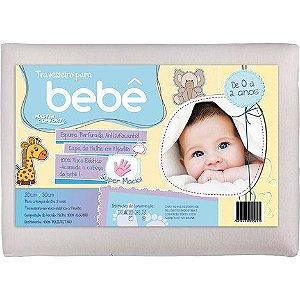 Travesseiro infantil bebe 20x30cm Visco Malha