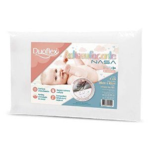 Travesseiro Baby Antissufocante 30x40x13 Nasa Impermeável