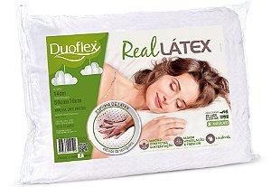 Travesseiro Duoflex Real Látex Natural 50x70X14