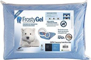 Travesseiro Nasa Alto Frostygel Viscoelástico 50x70 Fibrasca