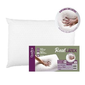 Travesseiro Duoflex Real Látex 50x70x14cm