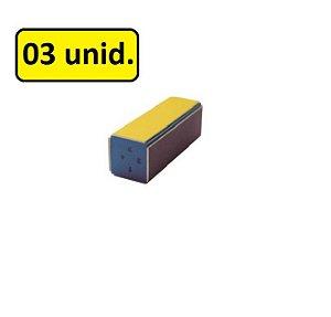 Bloco Modelador de Unha 4 Faces c/ 03 Unid.