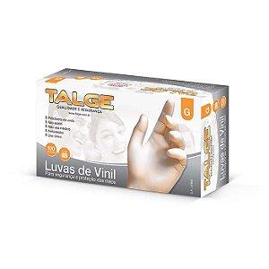 Luva Vinil Talge c/ 100 Unid.
