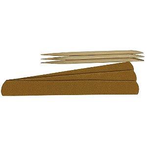 Kit 3 Palitos e 3 Lixas de Unha