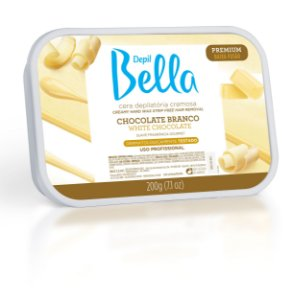 Cera Quente Chocolate Branco 800g - Depil Bella