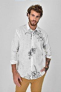 Camisa Floral Carvão