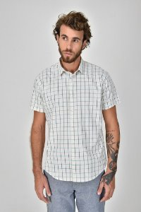 Camisa Xadrez Manga Curta Rio