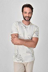 T-Shirt Linho Floral Full