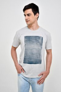 T-Shirt Silk Geo Aquarela