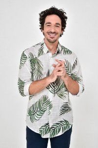 Camisa Manga Longa Maxi Ramos